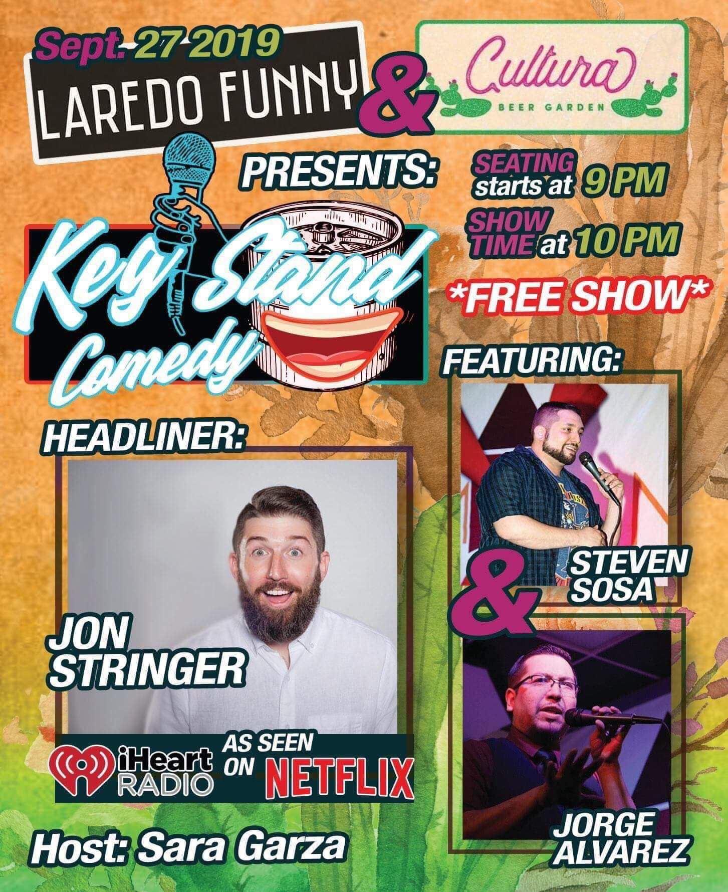 Laredo Funny/Cultura Beer Garden Present Kegstand Comedy