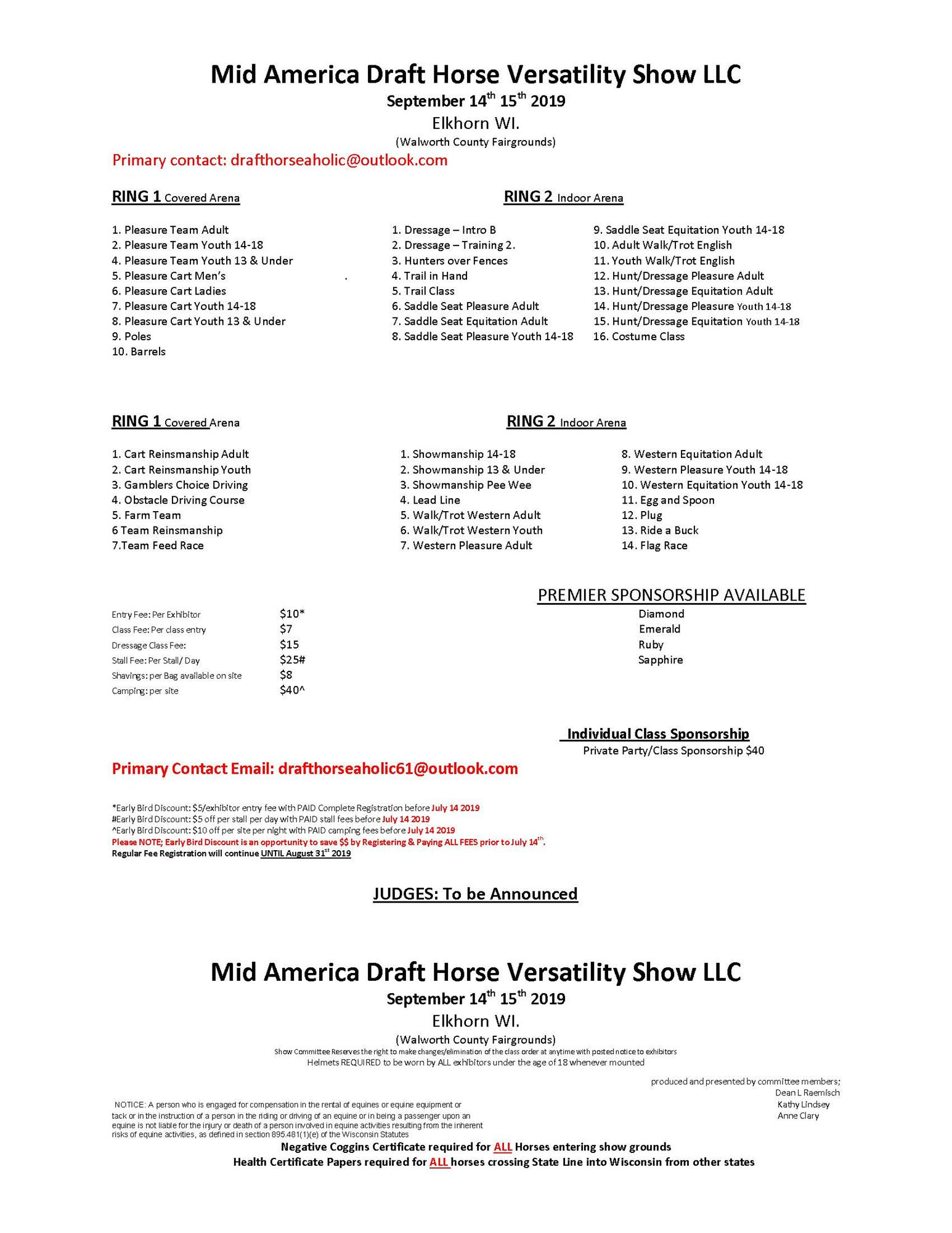 Mid America Draft Horse Versatility Show LLC