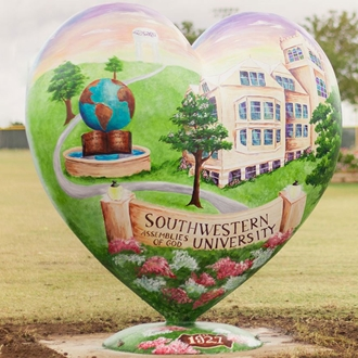 SAGU's #HachieHeart located at the front entrance of the Waxahachie Sports Complex!