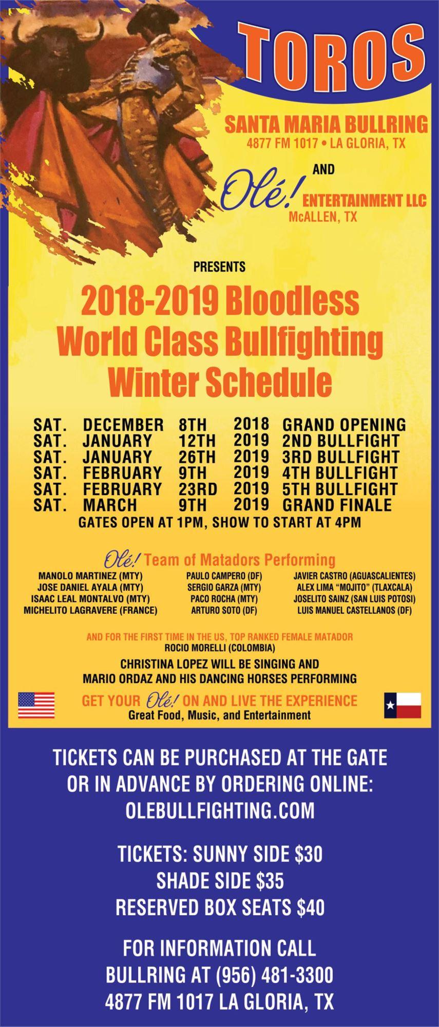 Bloodless World Class Bullfighting