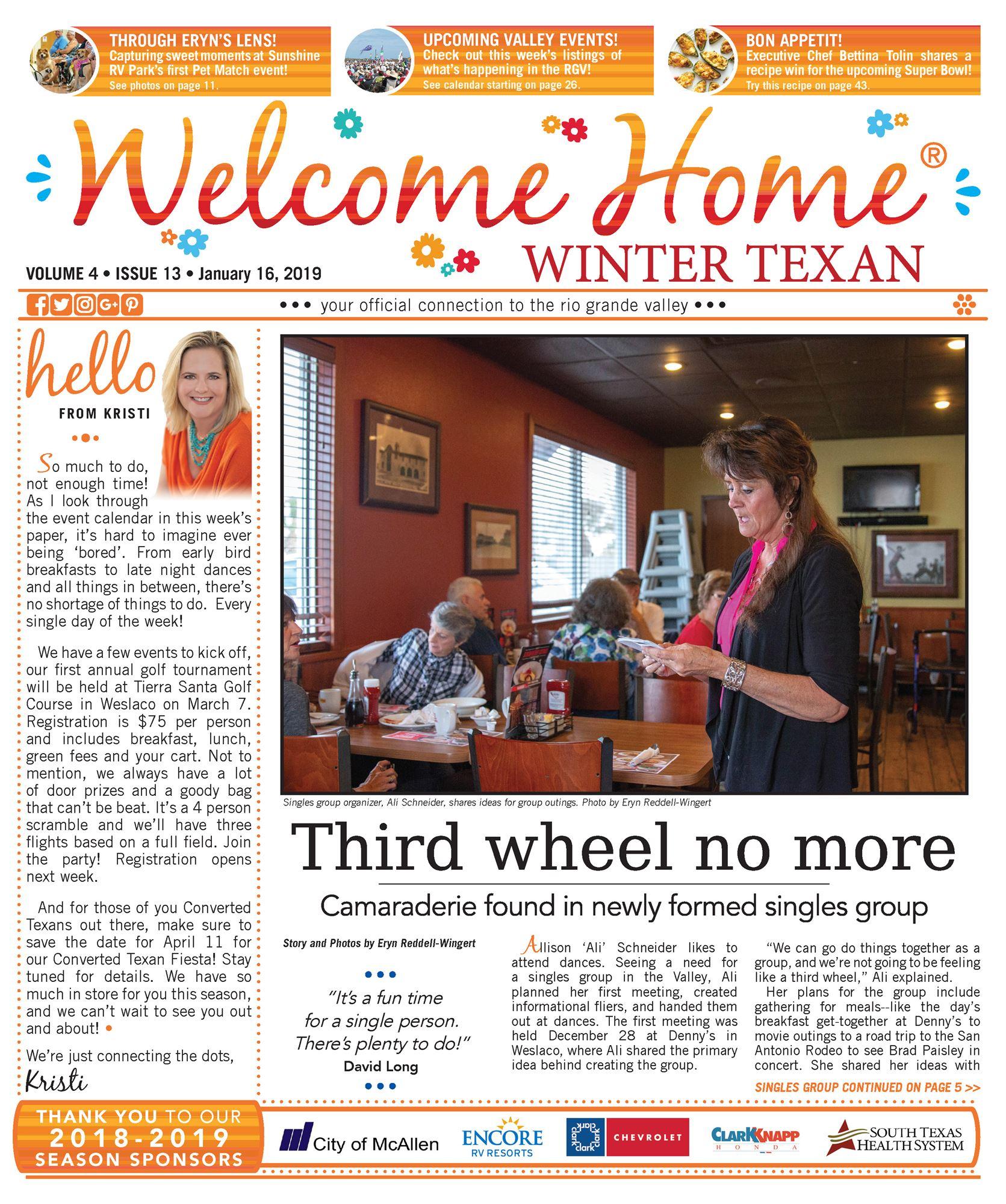 Welcome Home Winter Texan