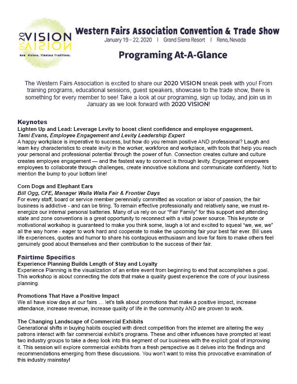 Programing At-A-Glance