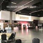 Empty Indoor Expo Hall setup for a wedding reception