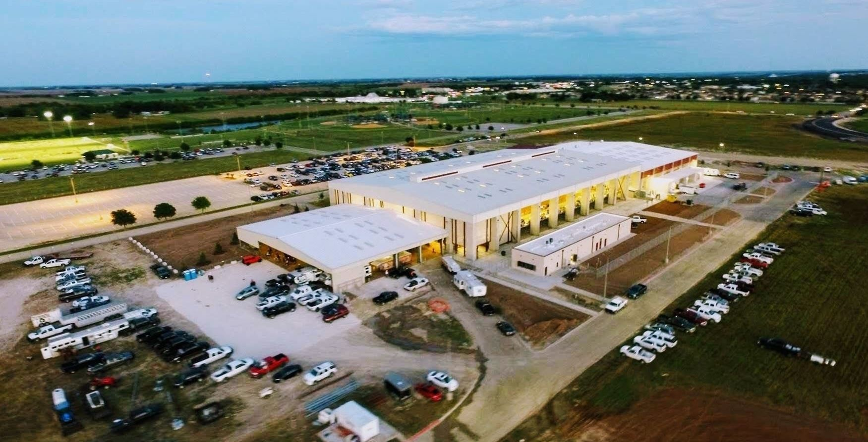 Aerial view of the Williamson County Expo Center