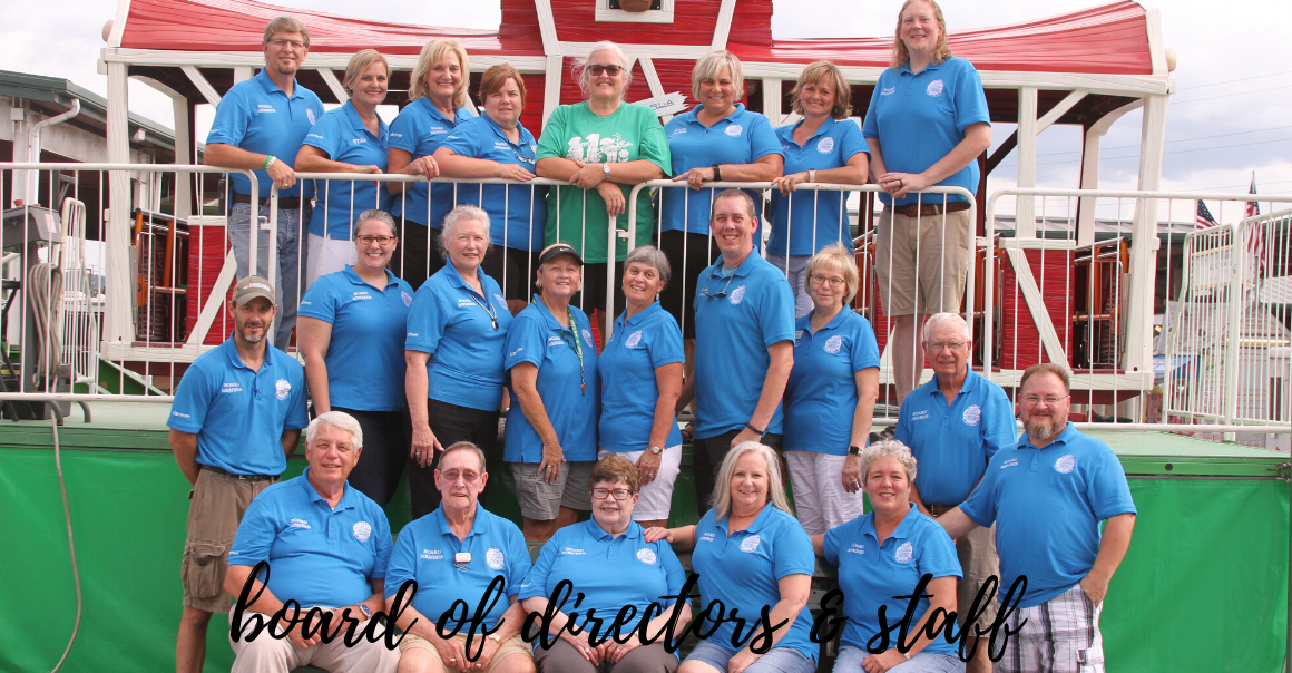 Board of Directors and staff members at the 2019 fair