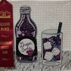 2019 Quilt Block made by Ann Hill.  She won 2nd place for her grape soda block