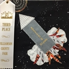 2019 Quilt Block made by Joyce Oberle.  She placed 3rd for her Apollo 11 50 years rocket block.
