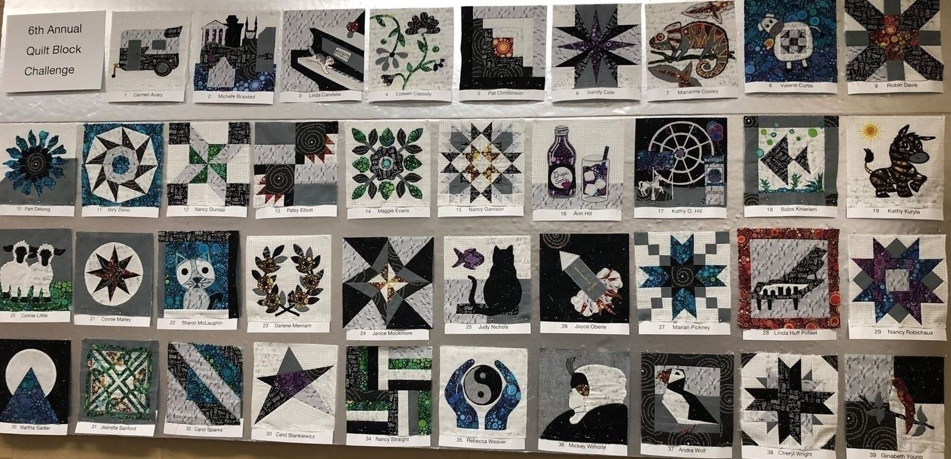 *2019 Quilt Block entries that will be made into the 2020 raffle quilt*