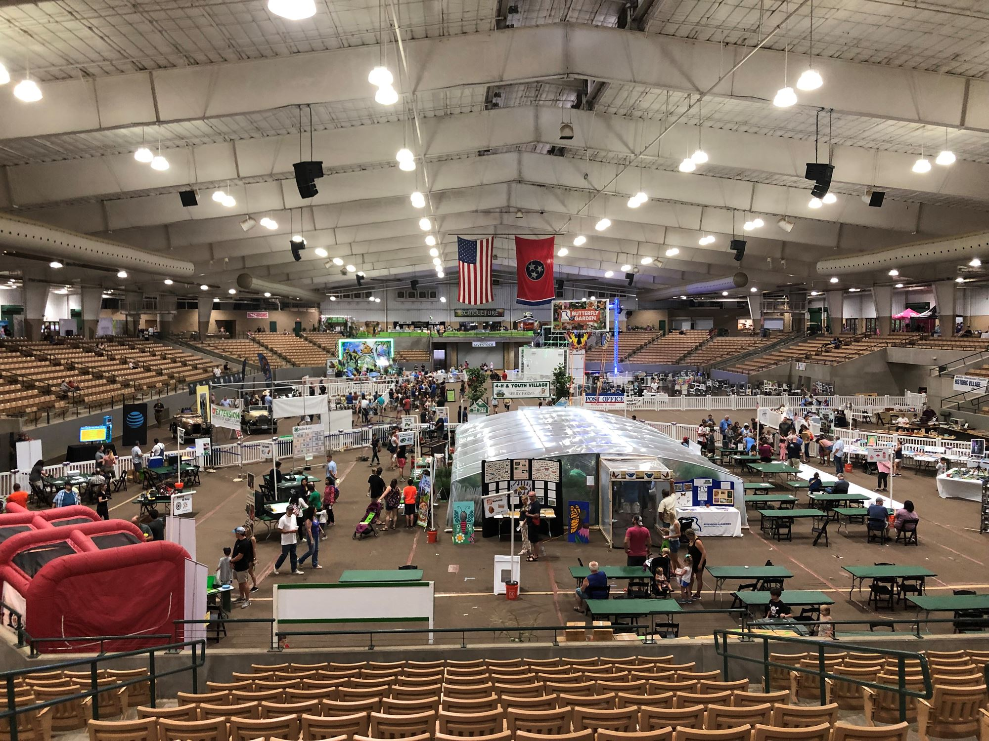 Overall view of the 4-H & Youth Village and the activities.