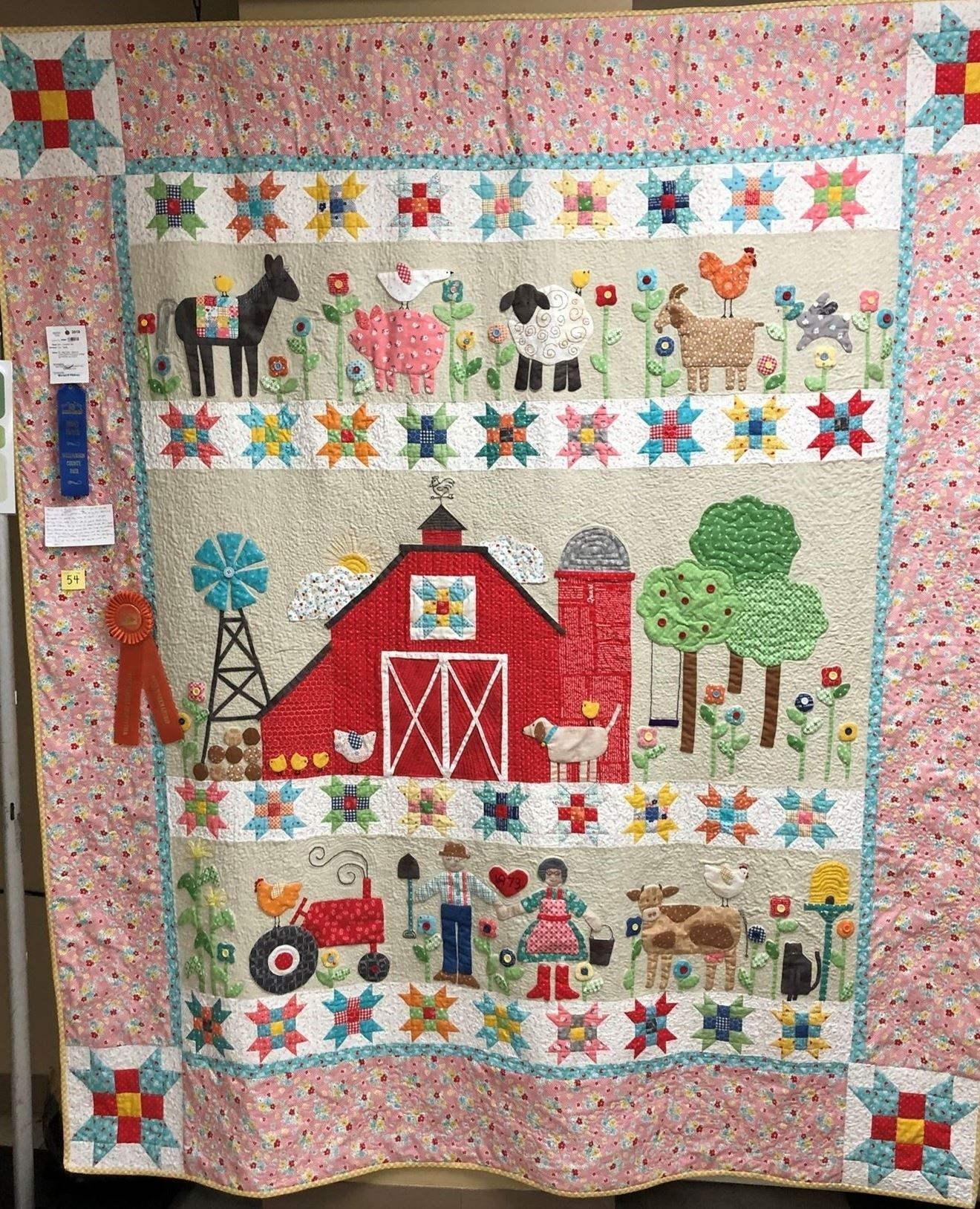 Farm scene quilt with link to enter Creative Arts divisions