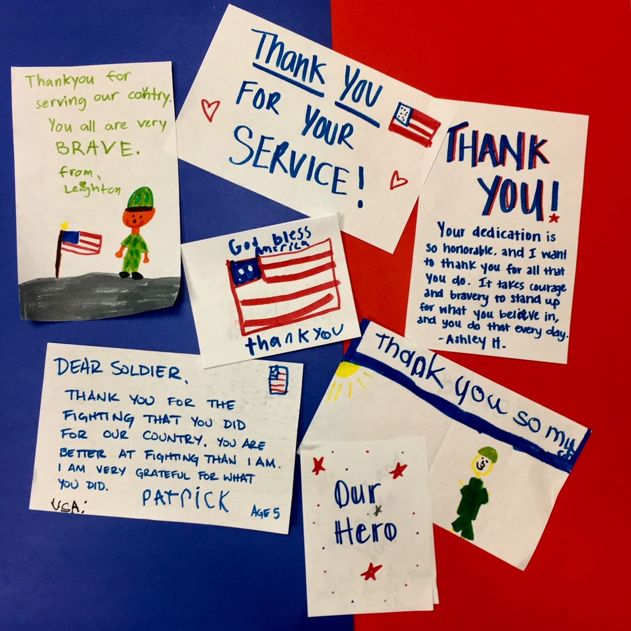 Various letters to soldiers