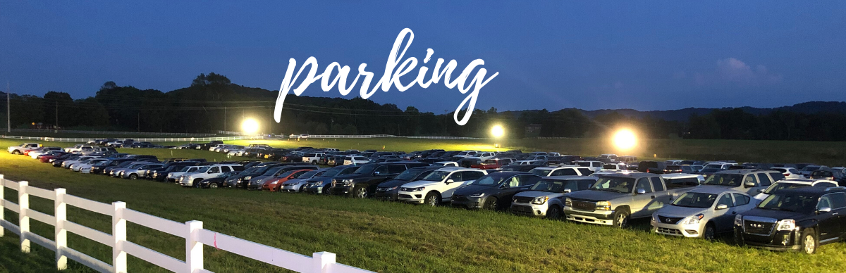 Cars parked in a field - Parking info