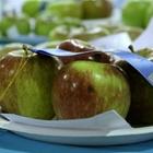 Fresh grown blue ribbon apples