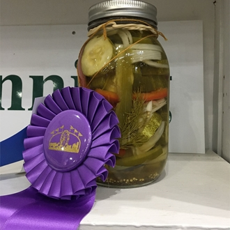 Best of Show - Canned jar of pickled