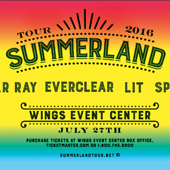 2016 Summerland Tour to Perform at Wings Event Center in July