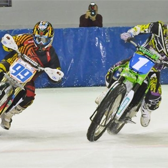 Hastings Racer Double Threat Saturday At Ice Racing World Championship