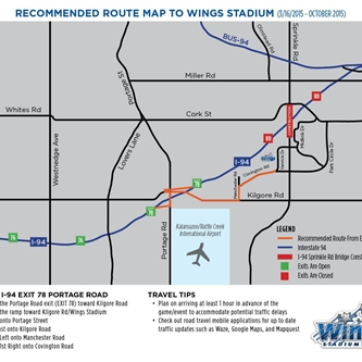 Best Ways For Guests To Arrive At Wings Stadium During I-94 Construction
