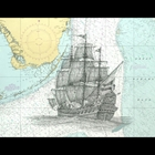 drawing of a large ship on a map