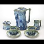 blue coffee set
