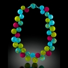 blue green bubbles necklace