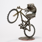metal monster on mountain bike