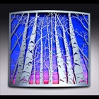 "Metal Relief of Aspens, created from 1/8"" thick steel which has been softly polished & sealed in a satin finish"