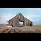 acrylic painting of a barn house in west texas