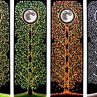 four seasons created with wax pencil