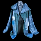 blue hand made jacket