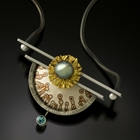 sterling silver necklace with Tahitian pearl