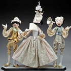 hear no evil, speak no evil, see no evil dolls sculpture