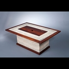 brown and white coffee table