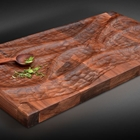 black walnut carved serving slab
