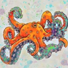 bright orange octopus