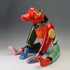 colorful dog sculpture