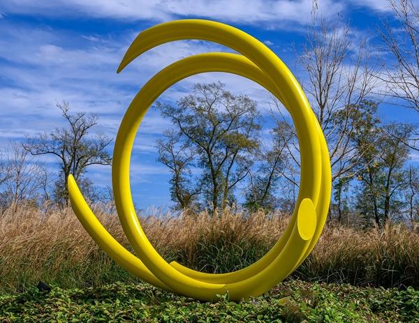 Yellow circular sculpture