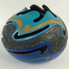 carved gourd finished with acrylic paint