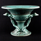 teal hand made bowl