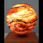 orange ball sculpture
