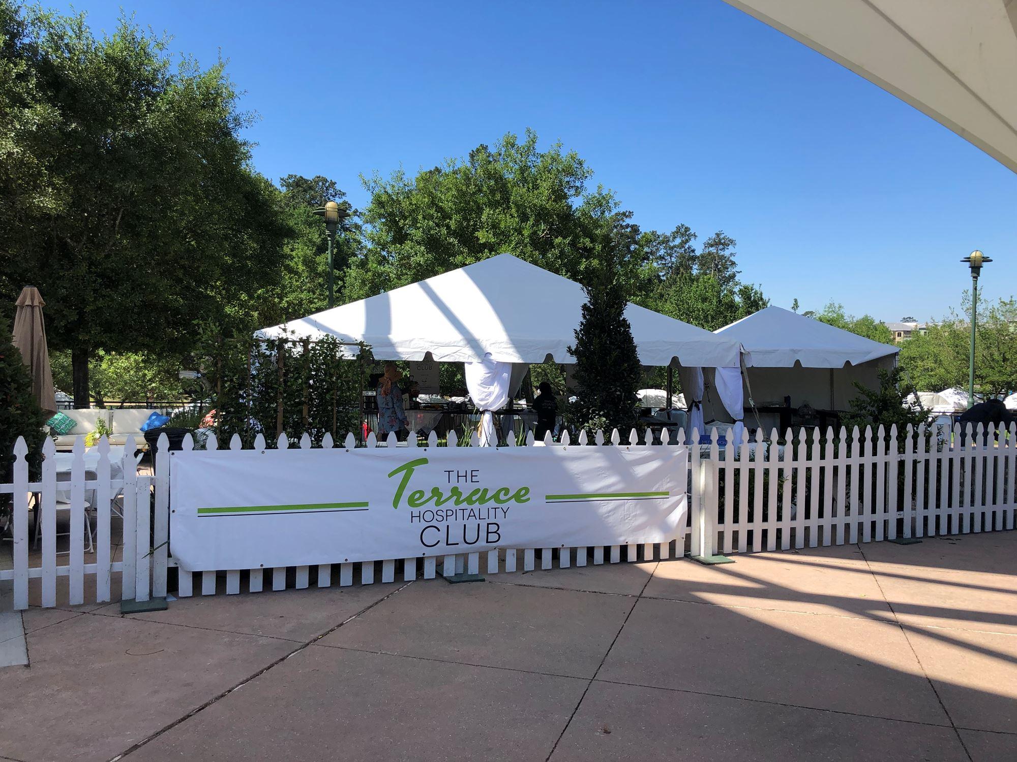 The Terrace Hospitality Club tent