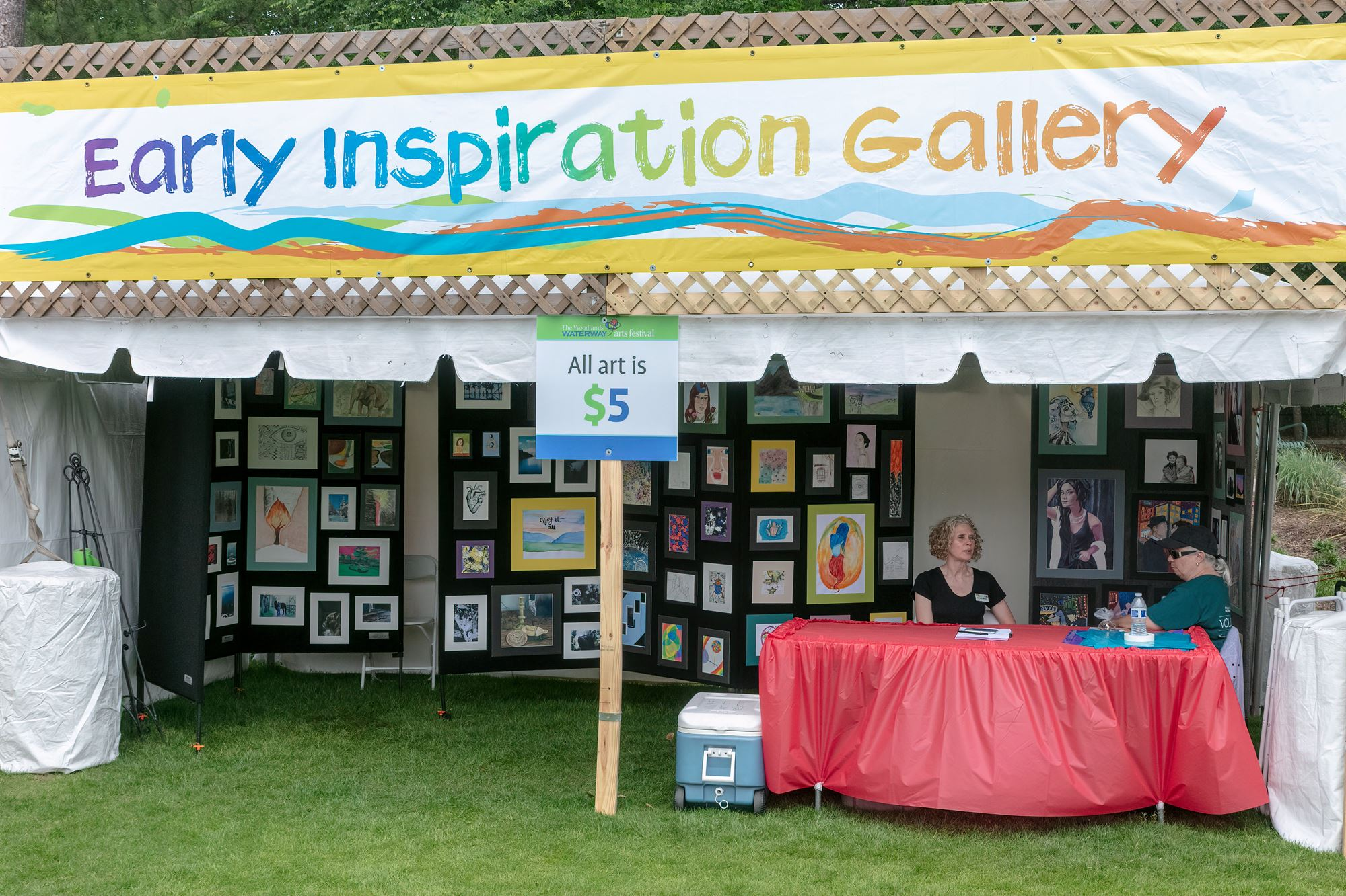 Early Inspiration Gallery art tent