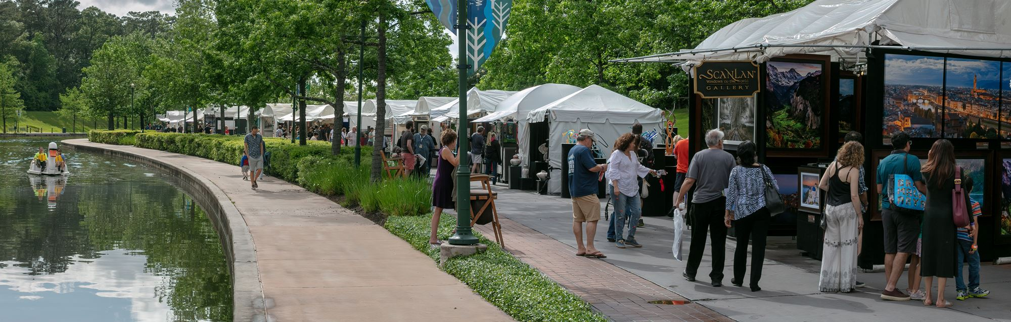 The Woodlands Arts Festival alongside the Woodlands Waterway