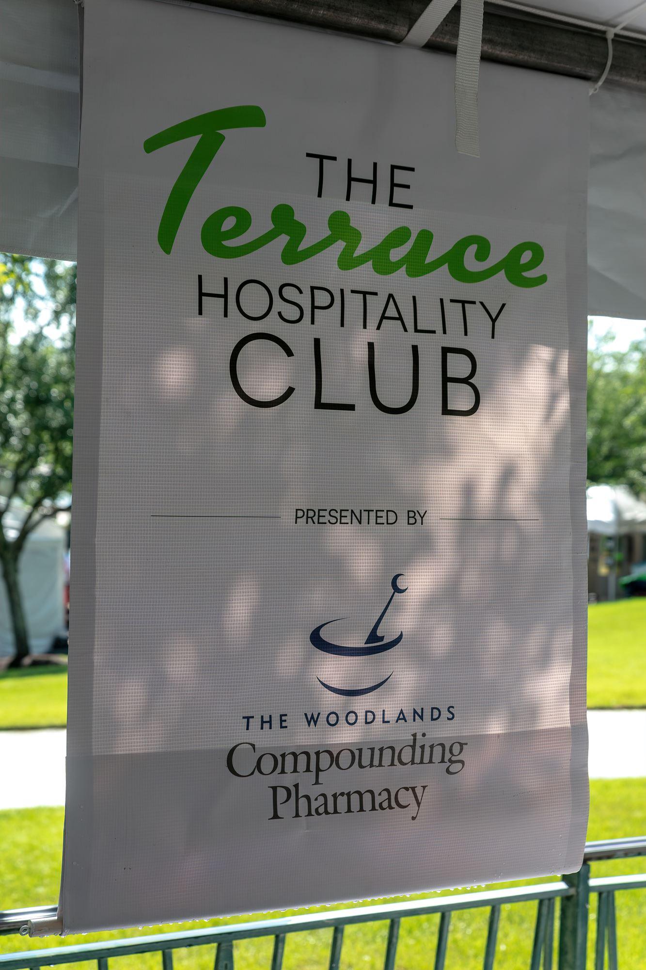 The Terrace Hospitality Club sign