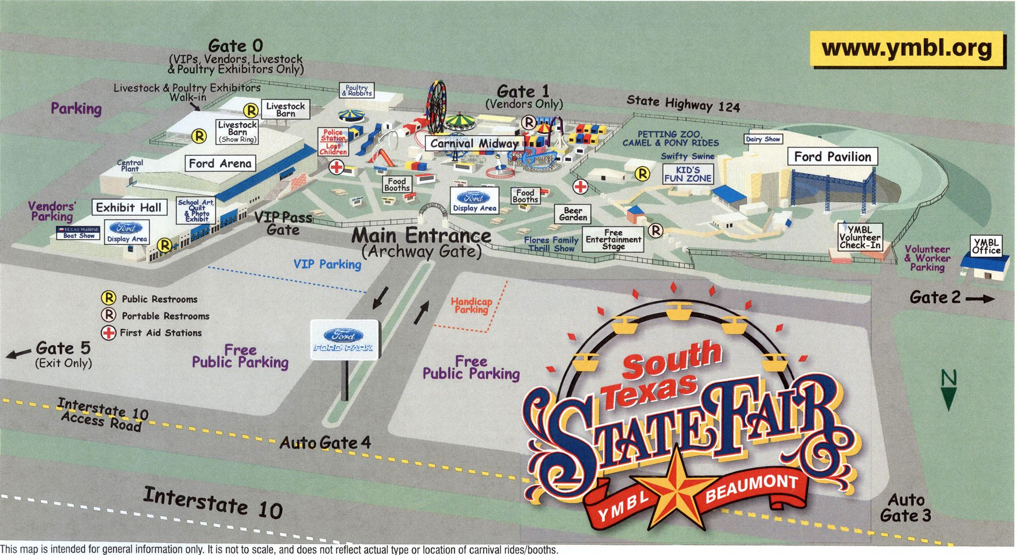 Road Map Of Texas State.Fairgrounds Map