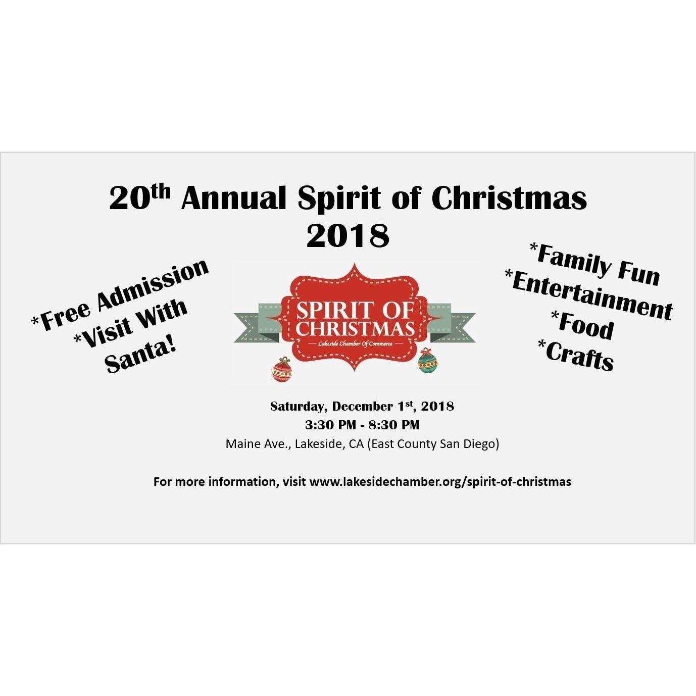 Dec 1st Free Spirit of Christmas on Maine Ave, Lakeside